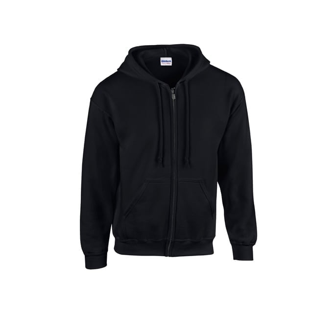 Bluzy - Bluza z pełnym zamkiem Heavy Blend™ - Gildan 18600 - Black - RAVEN - koszulki reklamowe z nadrukiem, odzież reklamowa i gastronomiczna