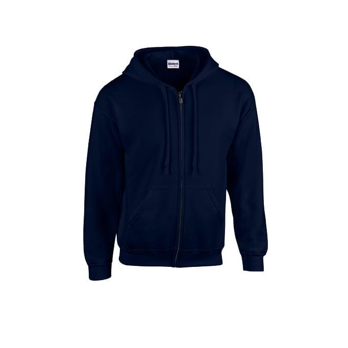 Bluzy - Bluza z pełnym zamkiem Heavy Blend™ - Gildan 18600 - Navy - RAVEN - koszulki reklamowe z nadrukiem, odzież reklamowa i gastronomiczna