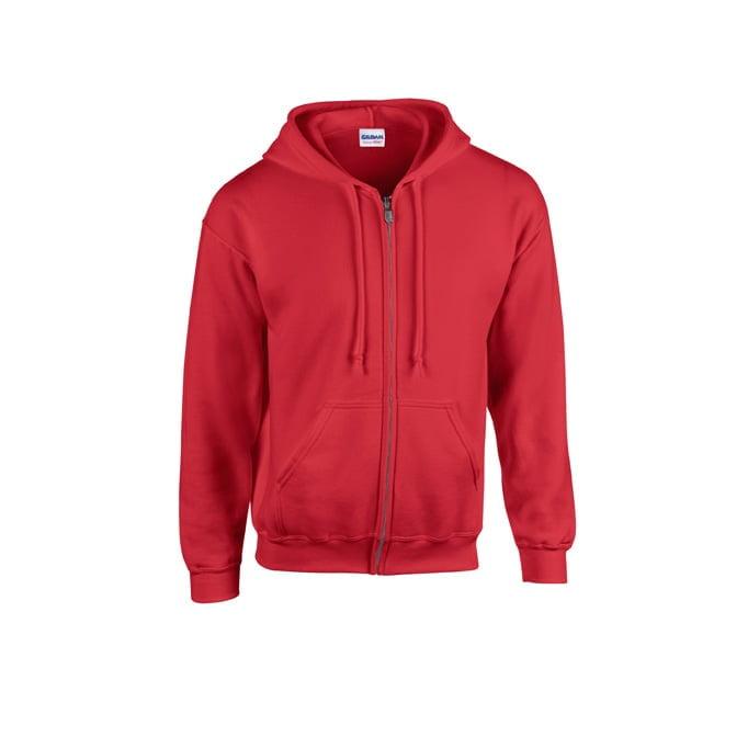 Bluzy - Bluza z pełnym zamkiem Heavy Blend™ - Gildan 18600 - Red - RAVEN - koszulki reklamowe z nadrukiem, odzież reklamowa i gastronomiczna