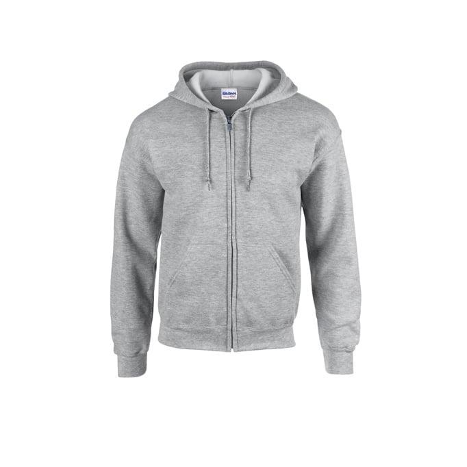 Bluzy - Bluza z pełnym zamkiem Heavy Blend™ - Gildan 18600 - Sport Grey (Heather) - RAVEN - koszulki reklamowe z nadrukiem, odzież reklamowa i gastronomiczna