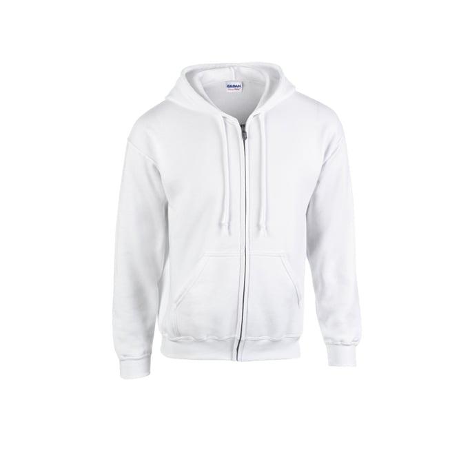 Bluzy - Bluza z pełnym zamkiem Heavy Blend™ - Gildan 18600 - White - RAVEN - koszulki reklamowe z nadrukiem, odzież reklamowa i gastronomiczna