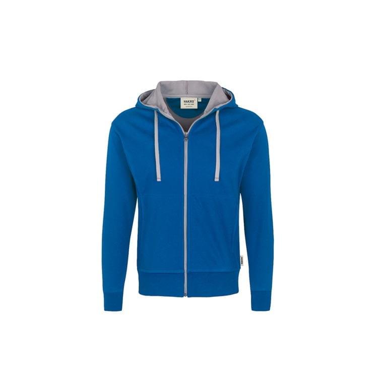 Bluzy - Męska bluza z kapturem 455 - Hakro 455 - Royal Blue - RAVEN - koszulki reklamowe z nadrukiem, odzież reklamowa i gastronomiczna