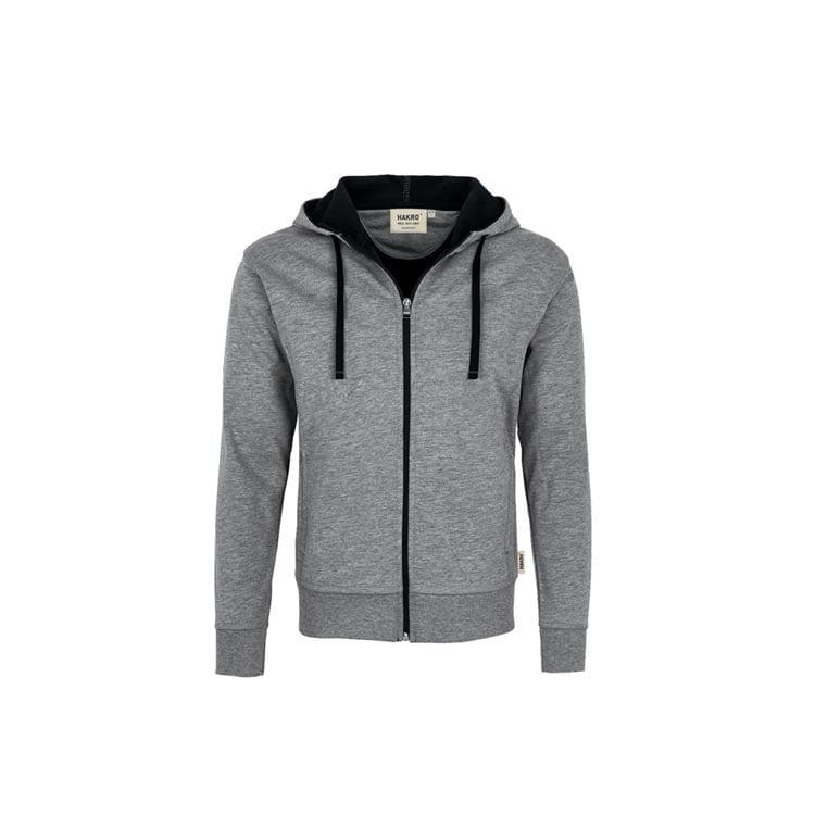 Bluzy - Męska bluza z kapturem 455 - Hakro 455 - Mottled Grey - RAVEN - koszulki reklamowe z nadrukiem, odzież reklamowa i gastronomiczna