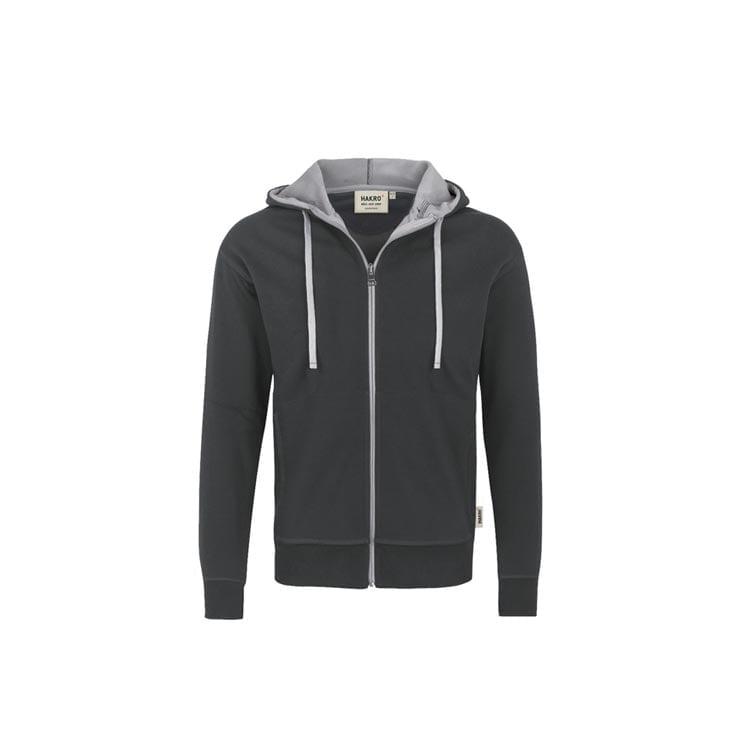 Bluzy - Męska bluza z kapturem 455 - Hakro 455 - Anthracite - RAVEN - koszulki reklamowe z nadrukiem, odzież reklamowa i gastronomiczna