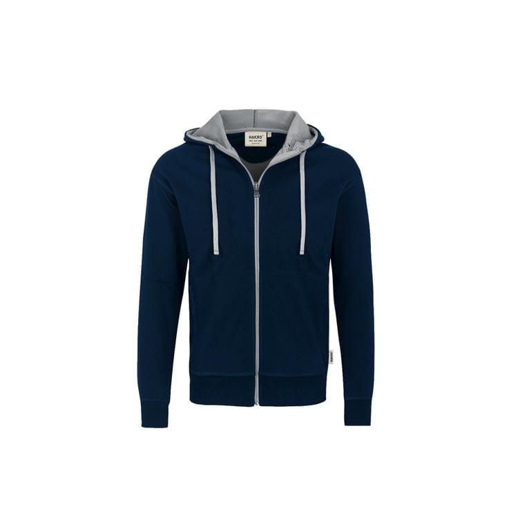 Bluzy - Męska bluza z kapturem 455 - Hakro 455 - Ink Blue - RAVEN - koszulki reklamowe z nadrukiem, odzież reklamowa i gastronomiczna
