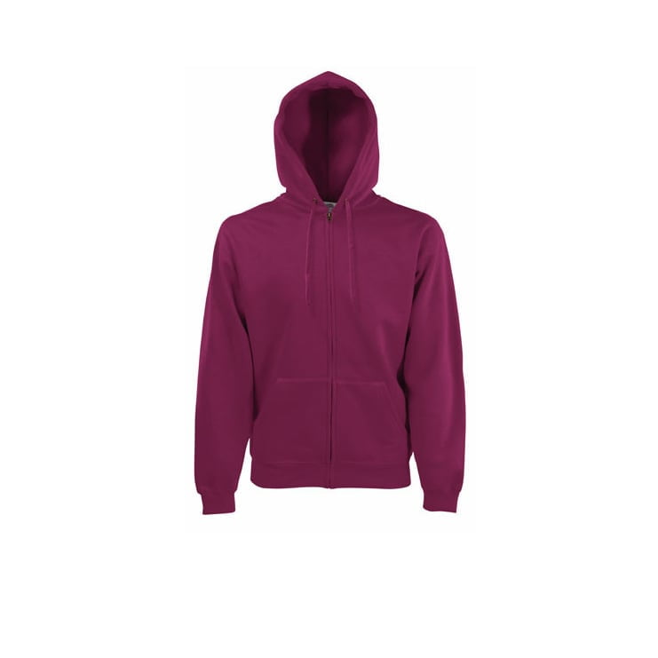 Bluzy - Klasyczna bluza z zamkiem Hooded - 62-062-0 - Burgundy - RAVEN - koszulki reklamowe z nadrukiem, odzież reklamowa i gastronomiczna