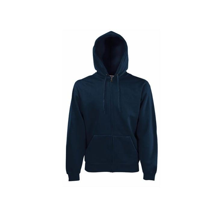 Bluzy - Klasyczna bluza z zamkiem Hooded - 62-062-0 - Black - RAVEN - koszulki reklamowe z nadrukiem, odzież reklamowa i gastronomiczna