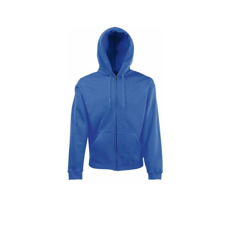 Bluzy - Klasyczna bluza z zamkiem Hooded - 62-062-0 - Royal Blue - RAVEN - koszulki reklamowe z nadrukiem, odzież reklamowa i gastronomiczna