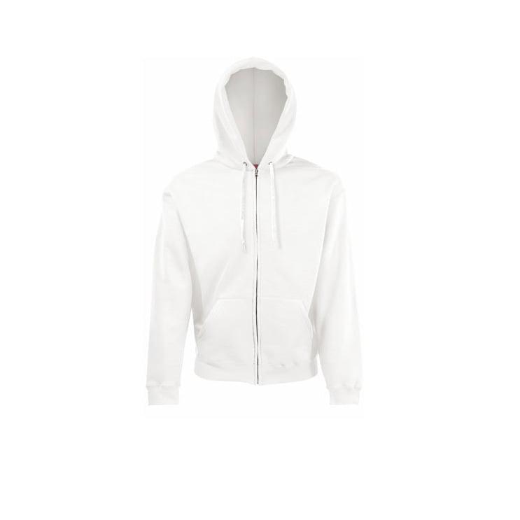 Bluzy - Klasyczna bluza z zamkiem Hooded - 62-062-0 - White - RAVEN - koszulki reklamowe z nadrukiem, odzież reklamowa i gastronomiczna