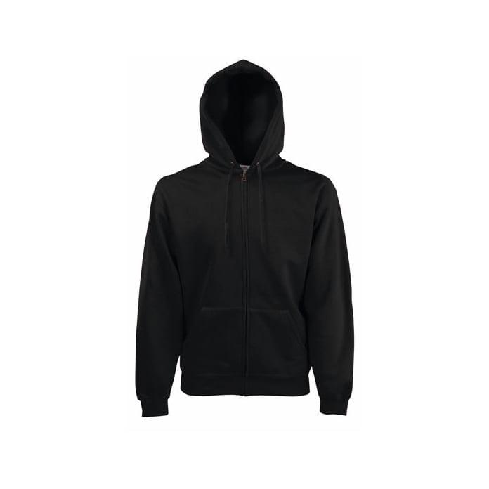 Bluzy - Bluza z zamkiem Premium Hooded - Fruit of the Loom 62-034-0 - Black - RAVEN - koszulki reklamowe z nadrukiem, odzież reklamowa i gastronomiczna