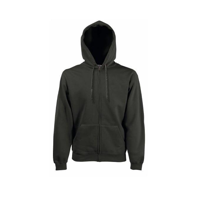 Bluzy - Bluza z zamkiem Premium Hooded - Fruit of the Loom 62-034-0 - Charcoal - RAVEN - koszulki reklamowe z nadrukiem, odzież reklamowa i gastronomiczna