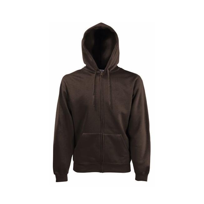 Bluzy - Bluza z zamkiem Premium Hooded - Fruit of the Loom 62-034-0 - Chocolate - RAVEN - koszulki reklamowe z nadrukiem, odzież reklamowa i gastronomiczna