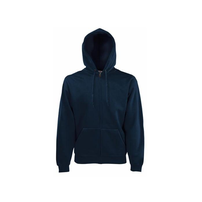Bluzy - Bluza z zamkiem Premium Hooded - Fruit of the Loom 62-034-0 - Deep Navy - RAVEN - koszulki reklamowe z nadrukiem, odzież reklamowa i gastronomiczna