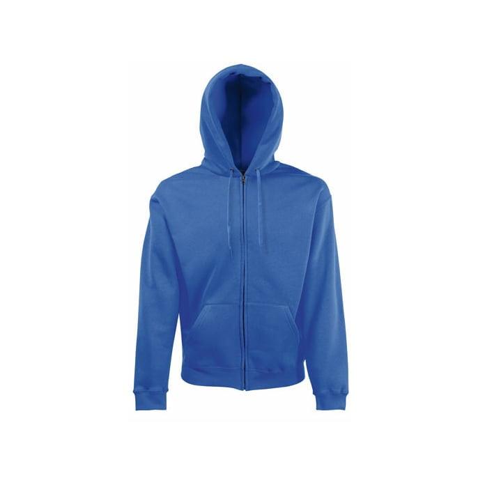 Bluzy - Bluza z zamkiem Premium Hooded - Fruit of the Loom 62-034-0 - Royal - RAVEN - koszulki reklamowe z nadrukiem, odzież reklamowa i gastronomiczna