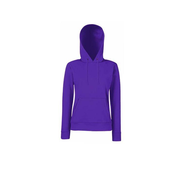 Bluzy - Klasyczna bluza z kapturem Lady-Fit - Fruit of the Loom 62-038-0 - Purple - RAVEN - koszulki reklamowe z nadrukiem, odzież reklamowa i gastronomiczna