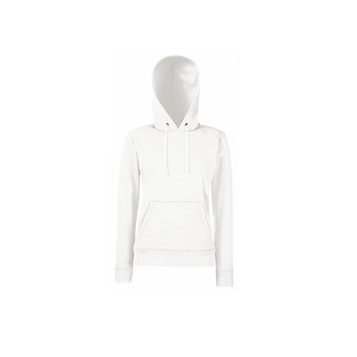 Bluzy - Klasyczna bluza z kapturem Lady-Fit - Fruit of the Loom 62-038-0 - White - RAVEN - koszulki reklamowe z nadrukiem, odzież reklamowa i gastronomiczna