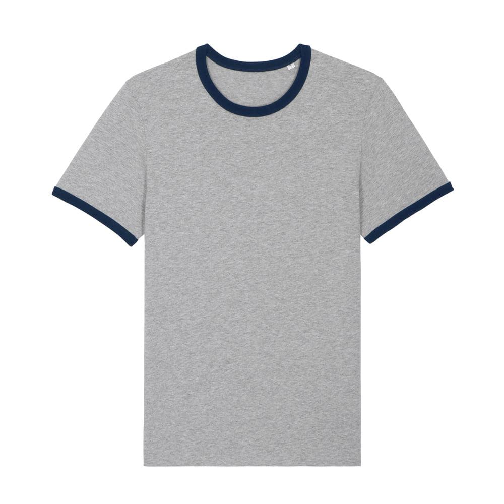 Koszulki T-Shirt - T-shirt Unisex Ringer - STTU827 - Heather Grey/French Navy - RAVEN - koszulki reklamowe z nadrukiem, odzież reklamowa i gastronomiczna