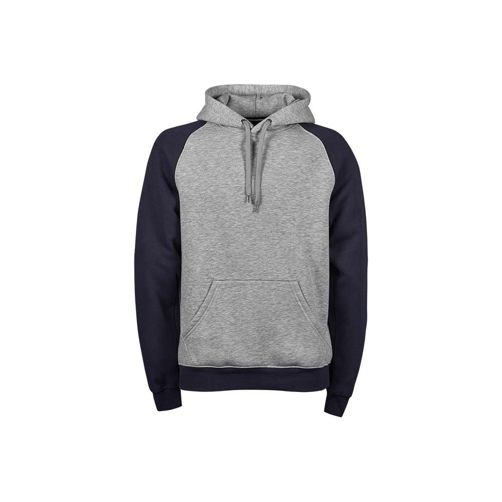 Bluzy - Damska dwukolorowa bluza Hooded - Tee Jays 5433 - Heather Grey/Navy - RAVEN - koszulki reklamowe z nadrukiem, odzież reklamowa i gastronomiczna