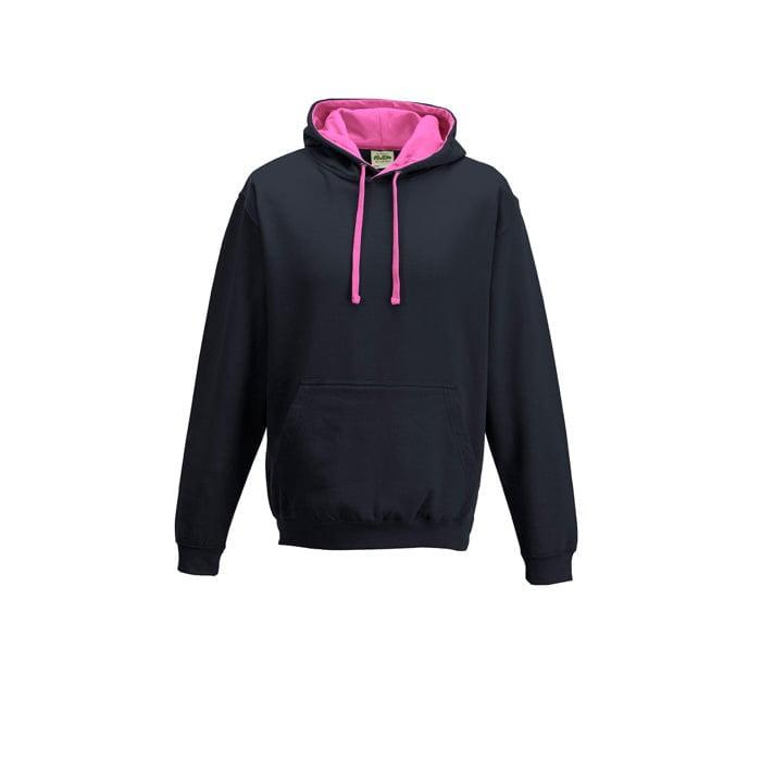 Bluzy - Bluza z kapturem Varsity Hoodie - Just Hoods JH003 - Oxford Navy/Candyfloss Pink - RAVEN - koszulki reklamowe z nadrukiem, odzież reklamowa i gastronomiczna