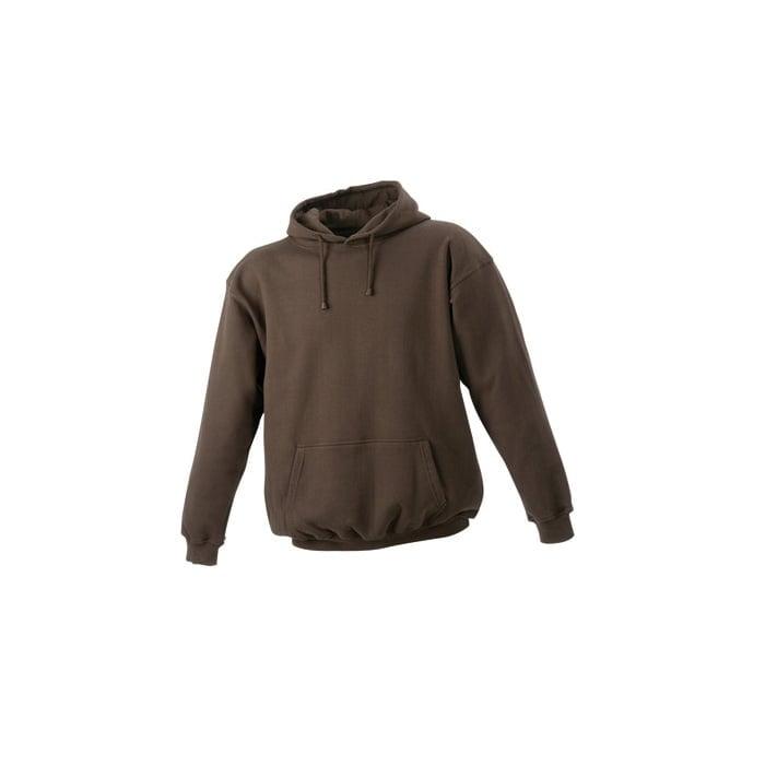 Bluzy - Męska bluza bez zamka Hooded Jacket - James & Nicholson JN047 - Brown - RAVEN - koszulki reklamowe z nadrukiem, odzież reklamowa i gastronomiczna