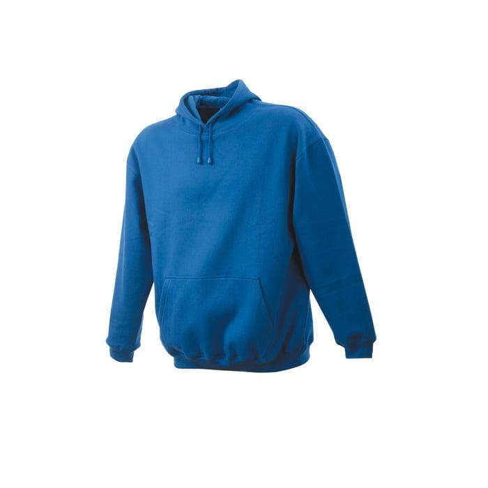 Bluzy - Męska bluza bez zamka Hooded Jacket - James & Nicholson JN047 - Royal - RAVEN - koszulki reklamowe z nadrukiem, odzież reklamowa i gastronomiczna
