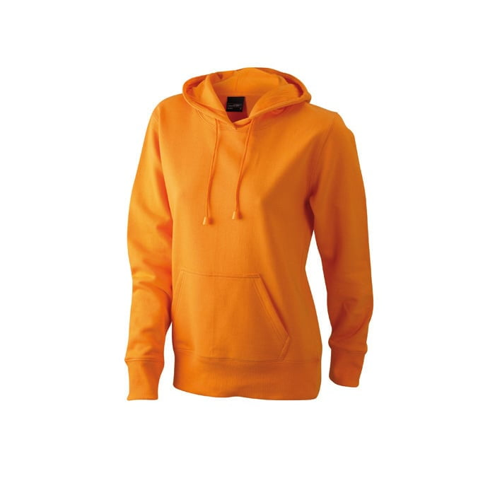 Bluzy - Damska bluza bez zamka Hooded Jacket - James & Nicholson JN051 - Orange - RAVEN - koszulki reklamowe z nadrukiem, odzież reklamowa i gastronomiczna