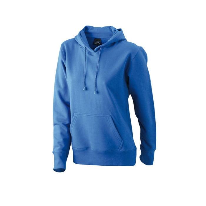 Bluzy - Damska bluza bez zamka Hooded Jacket - James & Nicholson JN051 - Royal - RAVEN - koszulki reklamowe z nadrukiem, odzież reklamowa i gastronomiczna