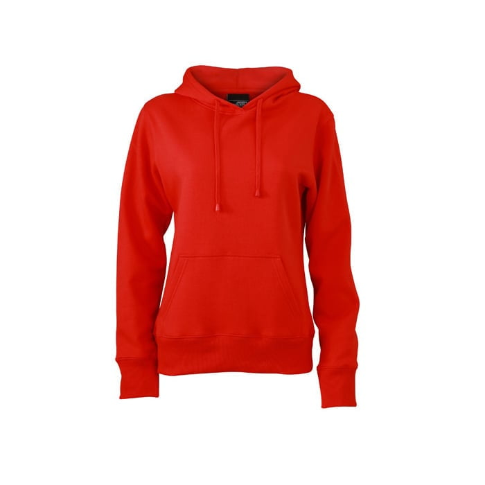 Bluzy - Damska bluza bez zamka Hooded Jacket - James & Nicholson JN051 - RAVEN - koszulki reklamowe z nadrukiem, odzież reklamowa i gastronomiczna