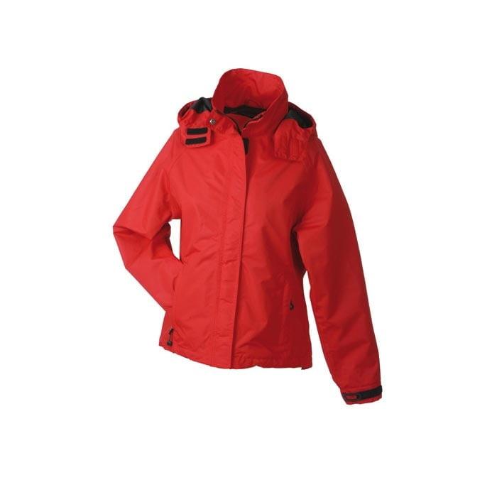 Kurtki - Ladies´ Outer Jacket - JN 1011 - Red - RAVEN - koszulki reklamowe z nadrukiem, odzież reklamowa i gastronomiczna