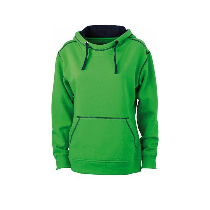 Bluzy - Damska bluza bez zamka Lifestyle - James & Nicholson JN960 - Green - RAVEN - koszulki reklamowe z nadrukiem, odzież reklamowa i gastronomiczna