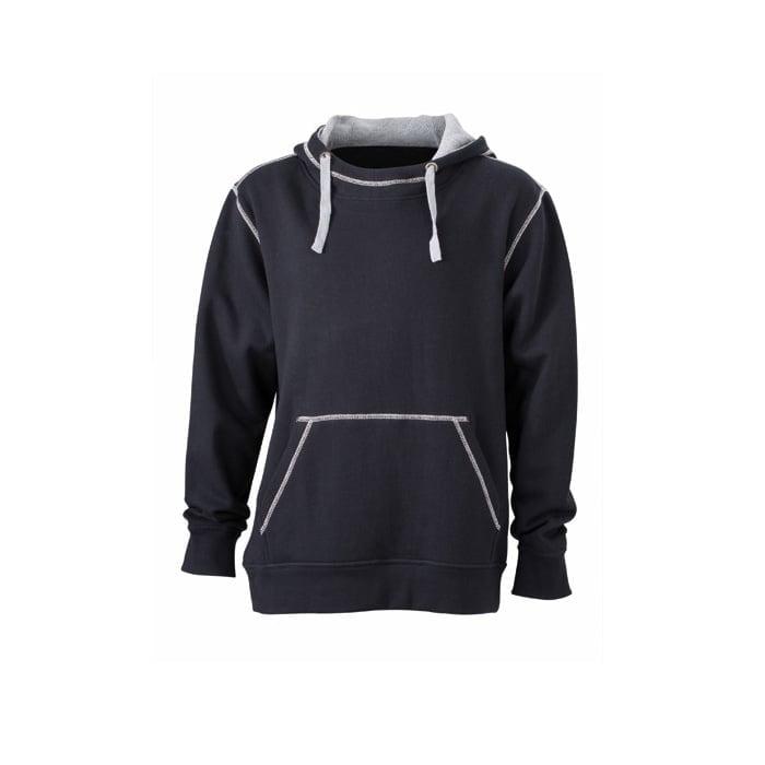 Bluzy - Męska bluza bez zamka Lifestyle - James & Nicholson JN961 - Black - RAVEN - koszulki reklamowe z nadrukiem, odzież reklamowa i gastronomiczna