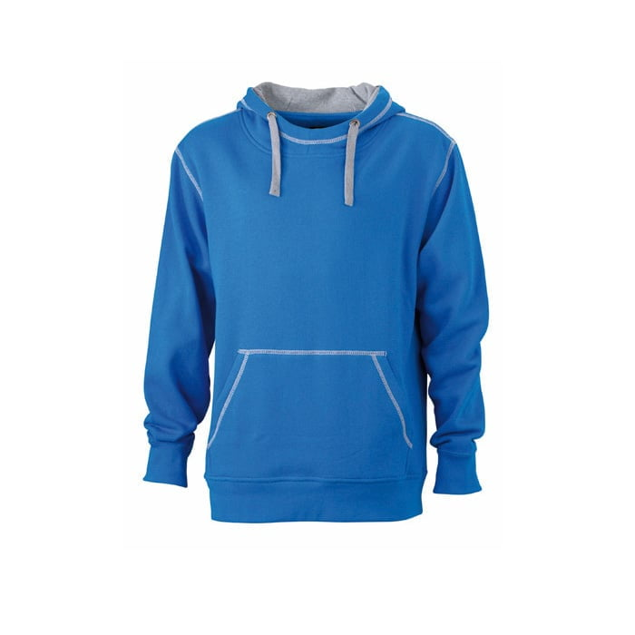 Bluzy - Męska bluza bez zamka Lifestyle - James & Nicholson JN961 - Cobalt - RAVEN - koszulki reklamowe z nadrukiem, odzież reklamowa i gastronomiczna