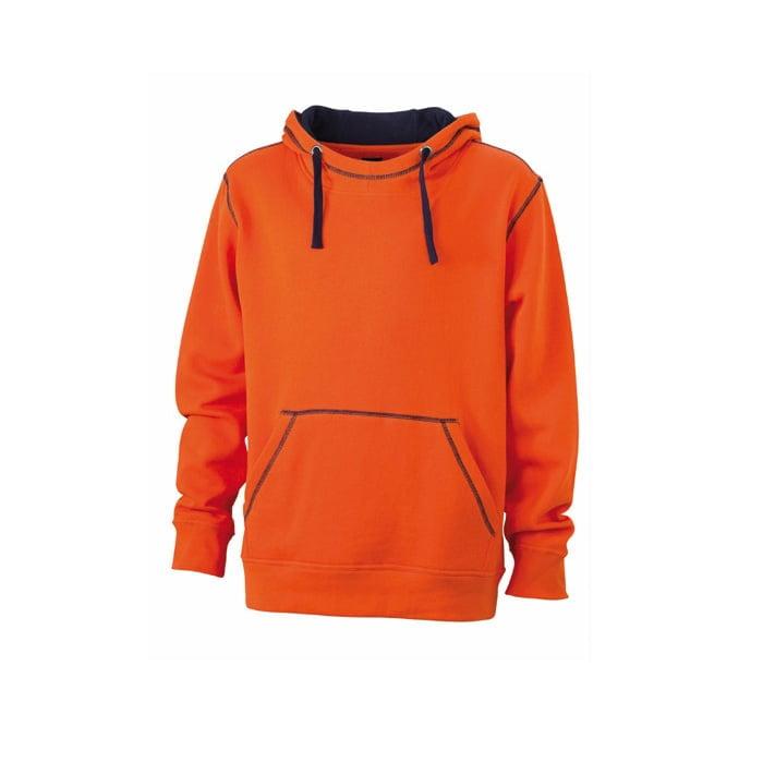 Bluzy - Męska bluza bez zamka Lifestyle - James & Nicholson JN961 - Orange - RAVEN - koszulki reklamowe z nadrukiem, odzież reklamowa i gastronomiczna