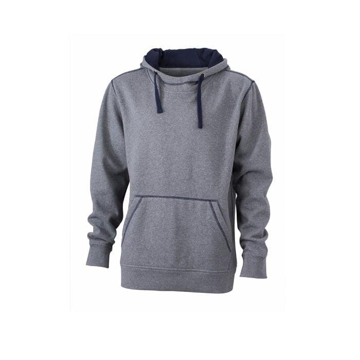 Bluzy - Męska bluza bez zamka Lifestyle - James & Nicholson JN961 - Grey Melange - RAVEN - koszulki reklamowe z nadrukiem, odzież reklamowa i gastronomiczna