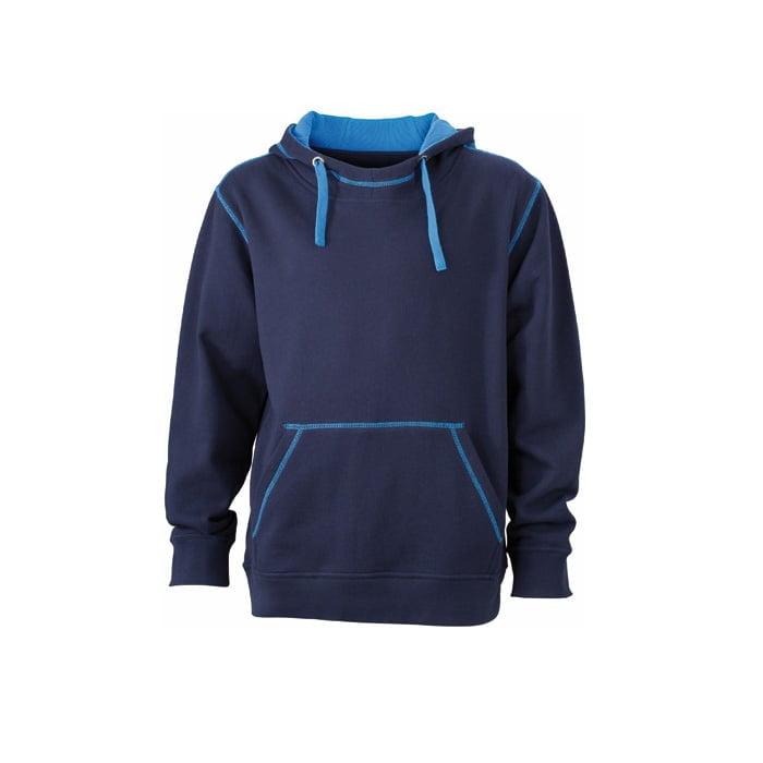 Bluzy - Męska bluza bez zamka Lifestyle - James & Nicholson JN961 - Navy - RAVEN - koszulki reklamowe z nadrukiem, odzież reklamowa i gastronomiczna