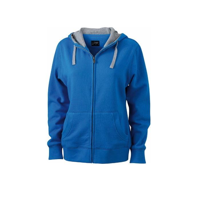Bluzy - Damska bluza Lifestyle - James & Nicholson JN962 - Cobalt - RAVEN - koszulki reklamowe z nadrukiem, odzież reklamowa i gastronomiczna