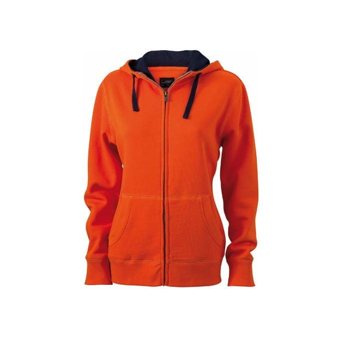 Bluzy - Damska bluza Lifestyle - James & Nicholson JN962 - Dark Orange - RAVEN - koszulki reklamowe z nadrukiem, odzież reklamowa i gastronomiczna