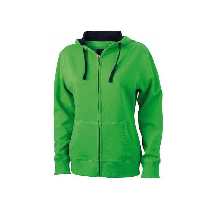 Bluzy - Damska bluza Lifestyle - James & Nicholson JN962 - Green - RAVEN - koszulki reklamowe z nadrukiem, odzież reklamowa i gastronomiczna