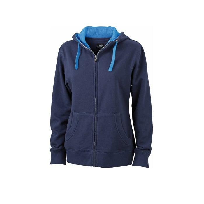 Bluzy - Damska bluza Lifestyle - James & Nicholson JN962 - Navy - RAVEN - koszulki reklamowe z nadrukiem, odzież reklamowa i gastronomiczna