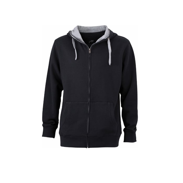 Bluzy - Męska bluza Lifestyle - James & Nicholson JN963 - Black - RAVEN - koszulki reklamowe z nadrukiem, odzież reklamowa i gastronomiczna