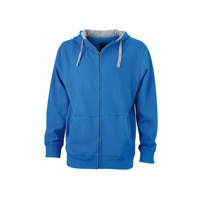 Bluzy - Męska bluza Lifestyle - James & Nicholson JN963 - Cobalt - RAVEN - koszulki reklamowe z nadrukiem, odzież reklamowa i gastronomiczna