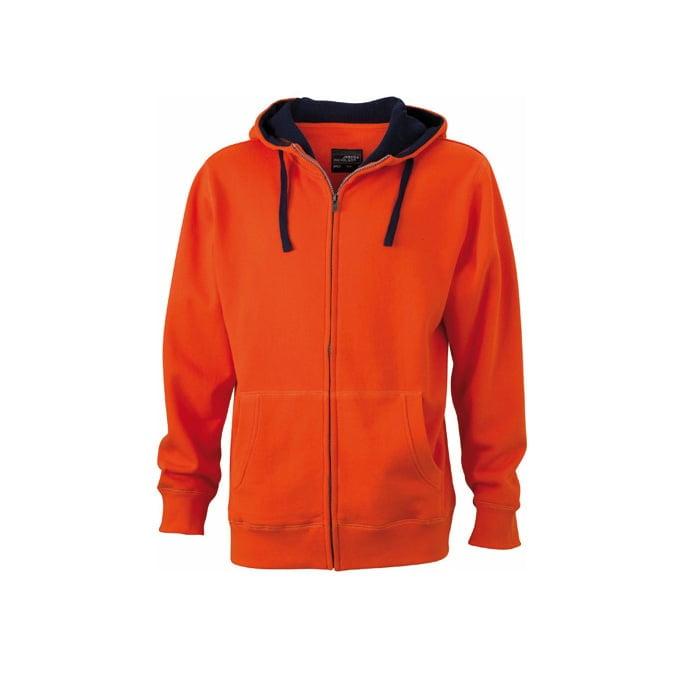 Bluzy - Męska bluza Lifestyle - James & Nicholson JN963 - Dark Orange - RAVEN - koszulki reklamowe z nadrukiem, odzież reklamowa i gastronomiczna