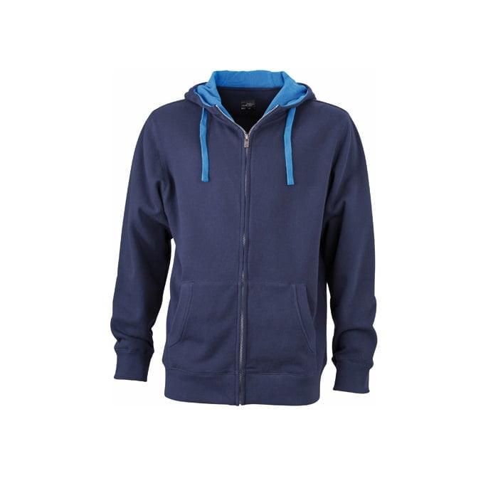 Bluzy - Męska bluza Lifestyle - James & Nicholson JN963 - Navy - RAVEN - koszulki reklamowe z nadrukiem, odzież reklamowa i gastronomiczna