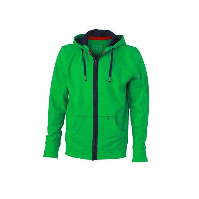 Bluzy - Męska bluza z kapturem Urban Hooded - James & Nicholson JN982 - Fern Green - RAVEN - koszulki reklamowe z nadrukiem, odzież reklamowa i gastronomiczna