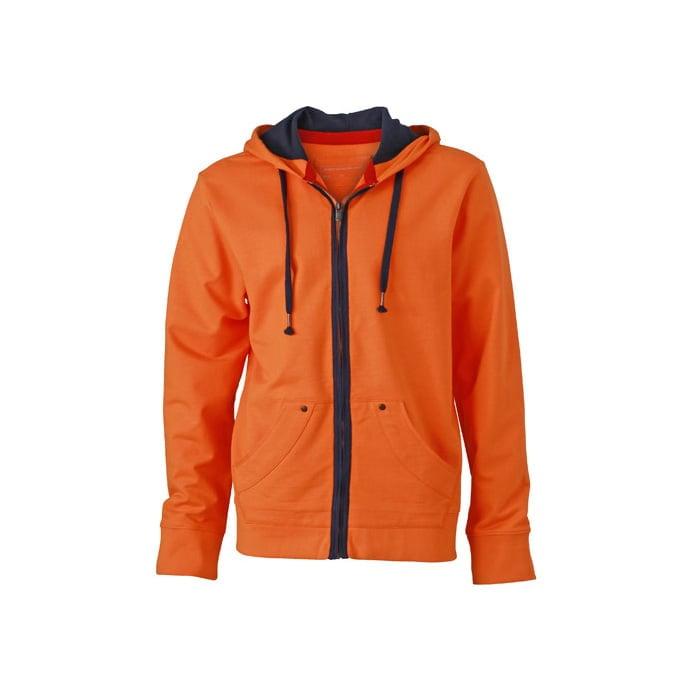 Bluzy - Męska bluza z kapturem Urban Hooded - James & Nicholson JN982 - Orange - RAVEN - koszulki reklamowe z nadrukiem, odzież reklamowa i gastronomiczna