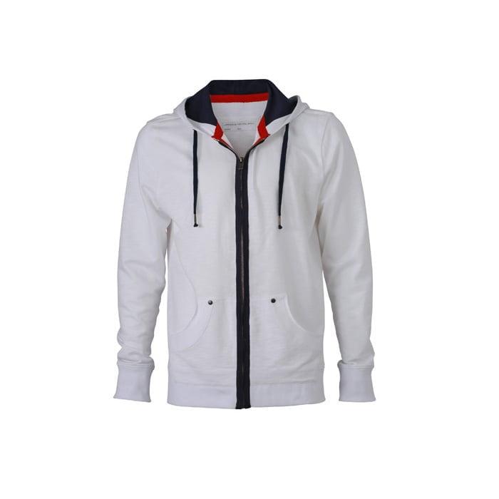 Bluzy - Męska bluza z kapturem Urban Hooded - James & Nicholson JN982 - RAVEN - koszulki reklamowe z nadrukiem, odzież reklamowa i gastronomiczna