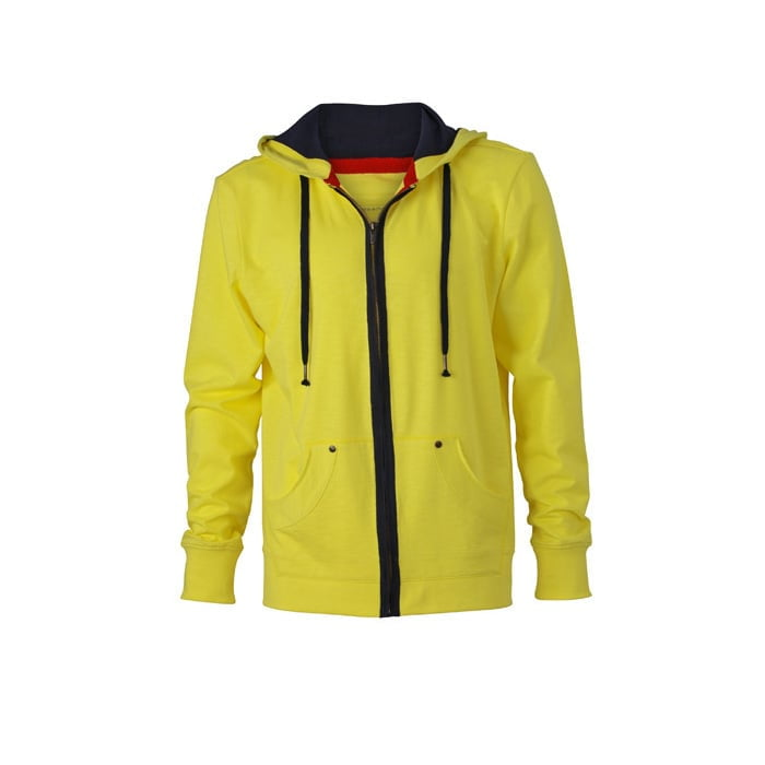 Bluzy - Męska bluza z kapturem Urban Hooded - James & Nicholson JN982 - Yellow - RAVEN - koszulki reklamowe z nadrukiem, odzież reklamowa i gastronomiczna