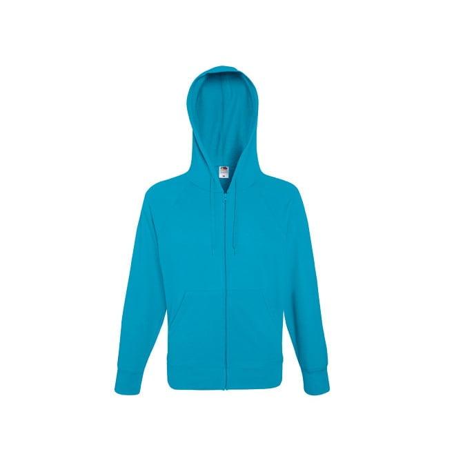 Bluzy - Bluza z zamkiem Lightweight - Fruit of the Loom 62-144-0 - Azure - RAVEN - koszulki reklamowe z nadrukiem, odzież reklamowa i gastronomiczna