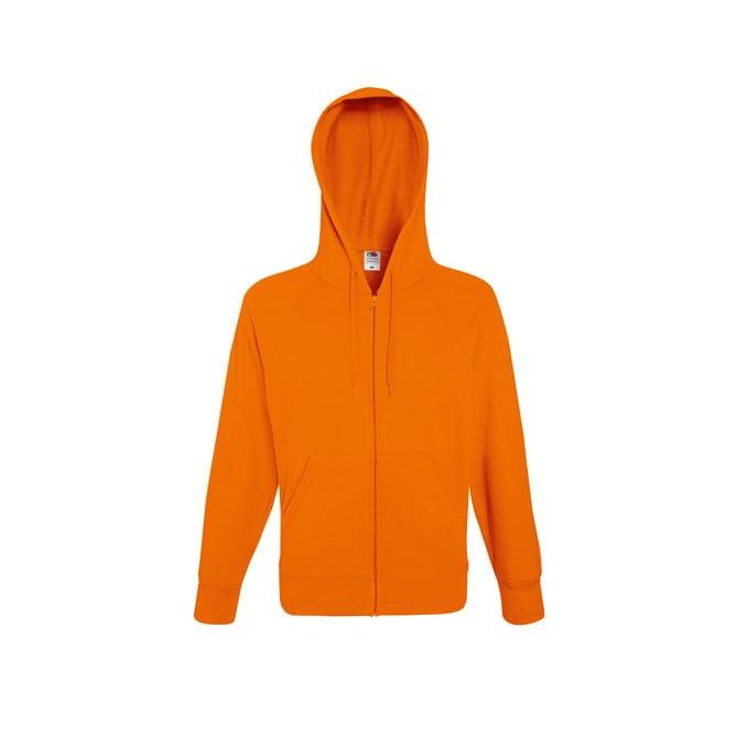 Bluzy - Bluza z zamkiem Lightweight - Fruit of the Loom 62-144-0 - Orange - RAVEN - koszulki reklamowe z nadrukiem, odzież reklamowa i gastronomiczna