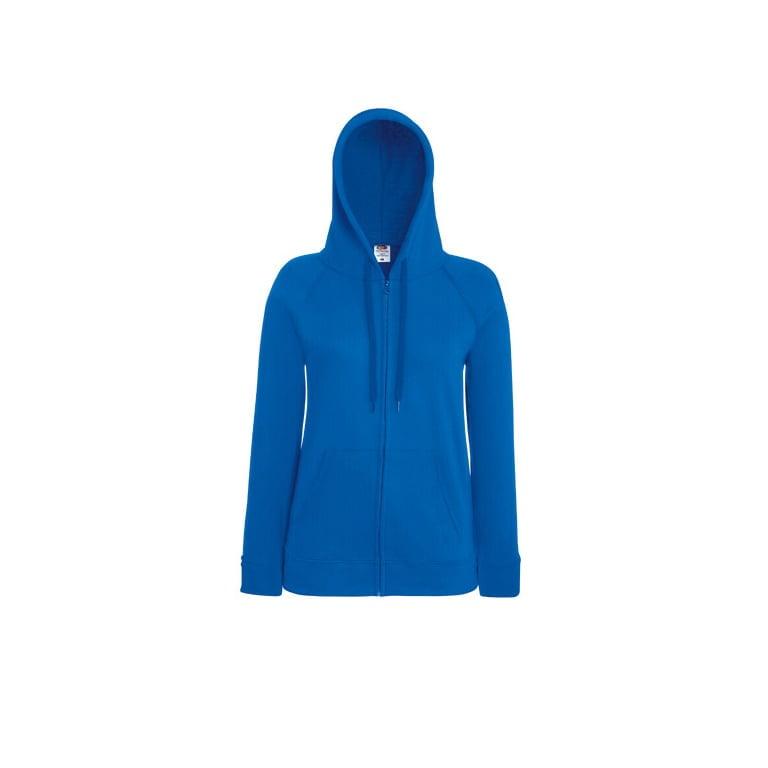 Bluzy - Damska bluza z zamkiem Lady-Fit - Fruit of the Loom 62-150-0 - Royal Blue - RAVEN - koszulki reklamowe z nadrukiem, odzież reklamowa i gastronomiczna